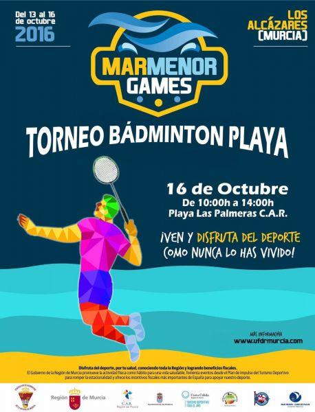 Bádminton en el «Mar Menor Games».