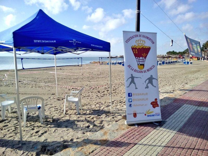 Bádminton Playa y FEBAMUR en el Mar Menor Games