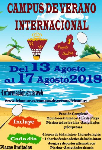 El Campus de Verano Febamur vuelve en Agosto 2018