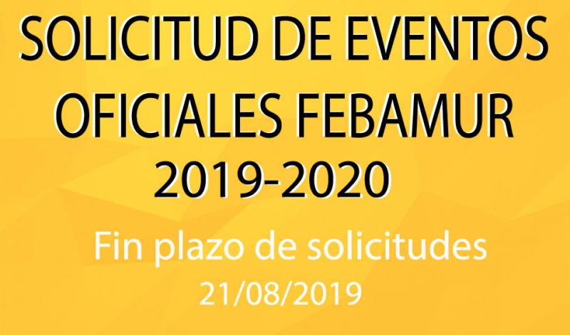 Solicitud Eventos Febamur 2019-2020