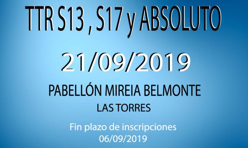 TTR Sub13, Sub17 y Absoluto (21/09/2019)