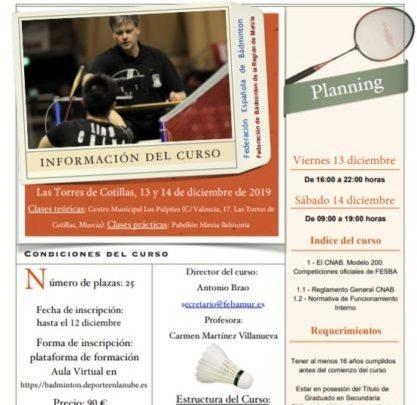 """Curso de Árbitro Nacional de Pista Nivel I """"FEBAMUR"""" 2019"""
