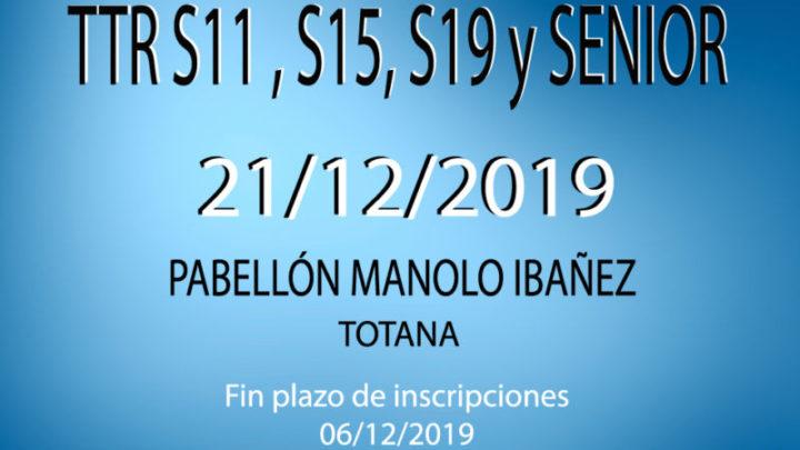 TTR Sub11, Sub15, Sub 19 y Senior (21/12/2019)