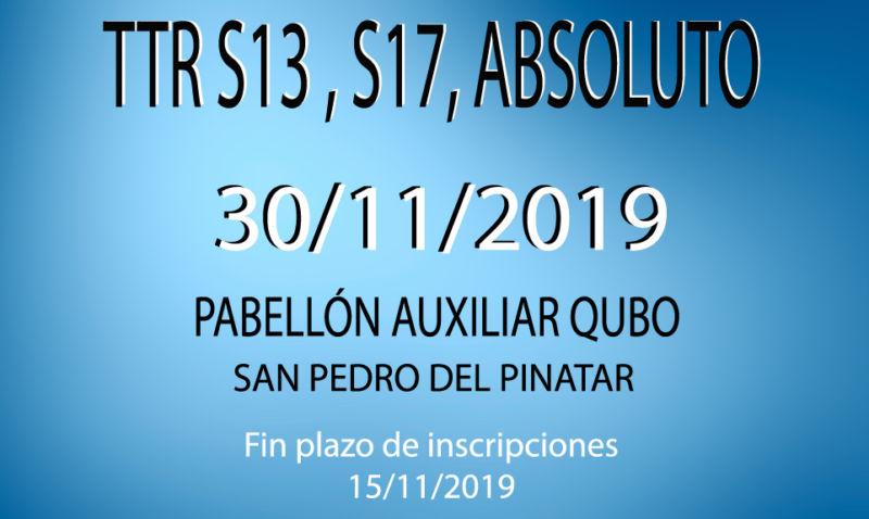 TTR Sub13, Sub17 y Absoluto (30/11/2019)