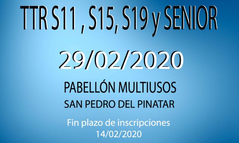 TTR Sub11, Sub15, Sub 17 y Absoluto (29/02/2020)