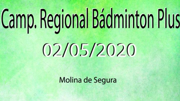 Camp Bádminton Plus Febamur (02/05/2020)