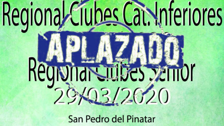 Camp. Regional Senior y Cat. inferiores (28-29/03/2020)