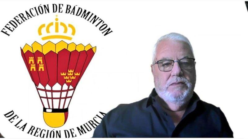 Pedro Caparrós, reelegido presidente de la Federación de Bádminton de la Región de Murcia
