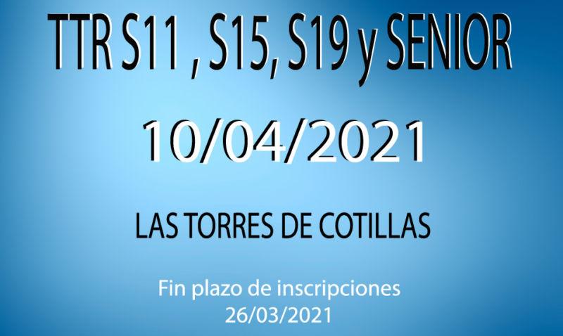 TTR Sub-11, Sub-15, Sub-19 y Senior (2*)