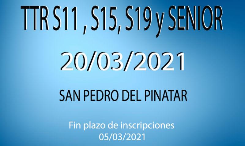 TTR Sub-11, Sub-15, Sub-19 y Senior (2*) (20/03/2021)