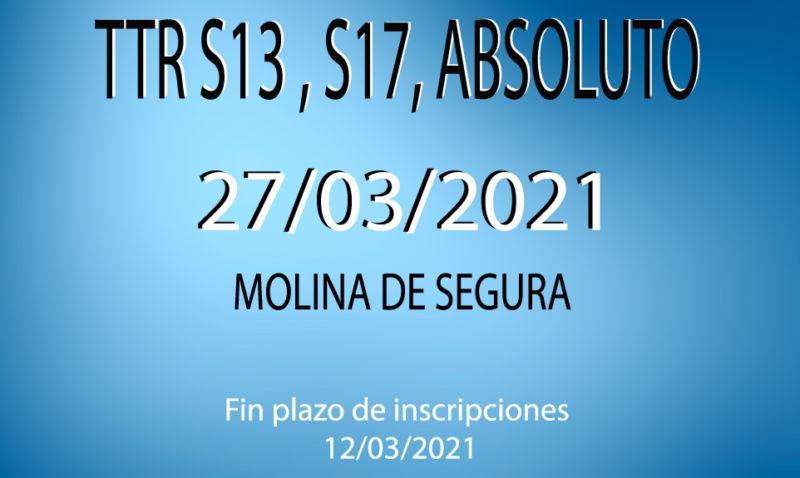 TTR Sub-13, Sub-17, Absoluto (2*) (27/03/2021)