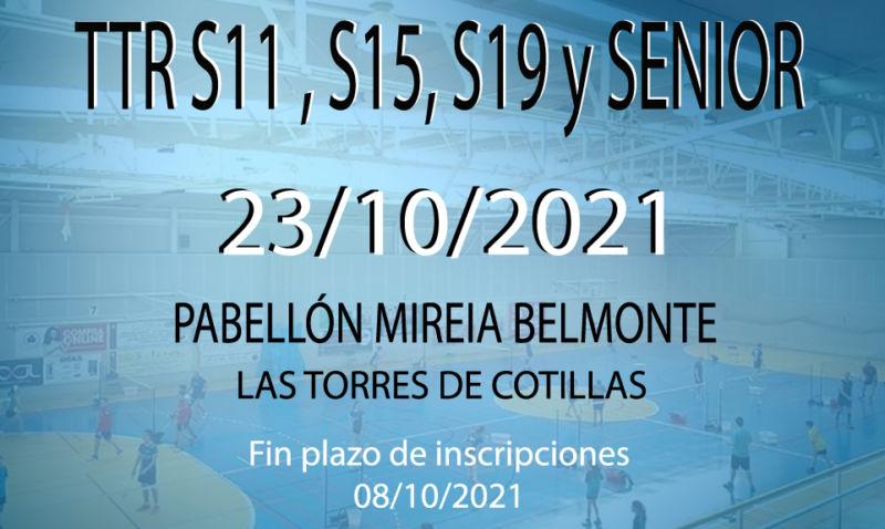 TTR Sub11, Sub15, Sub 19 y Sénior.
